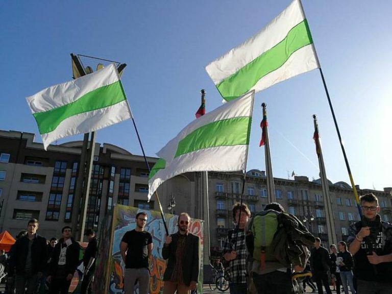 KYKY: В Вильнюсе устроили митинг против беларуского «нелегалайза»